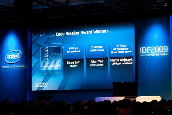 Intel Developer Forum 2009 - Code Breaker Award Winners